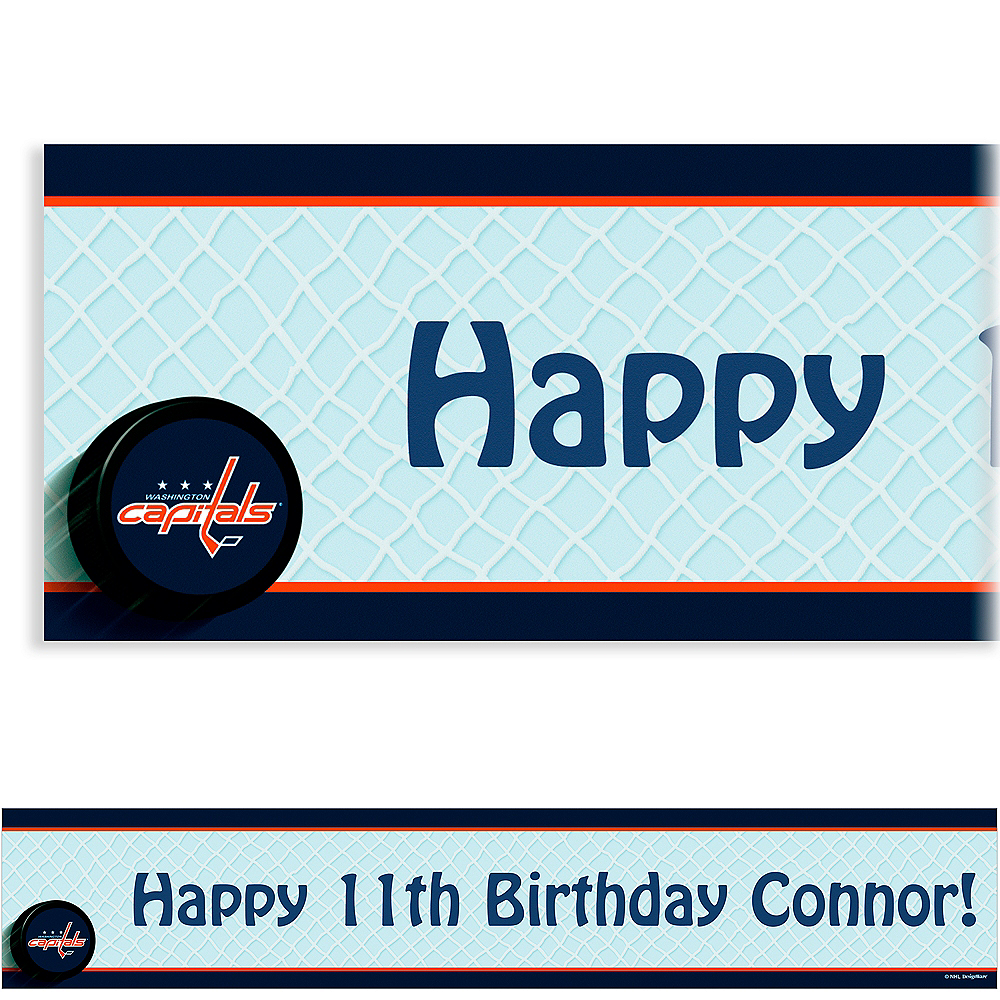 Custom Washington Capitals Banner 6ft Image #1