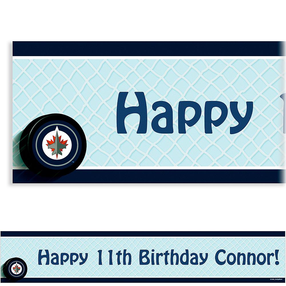 Custom Winnipeg Jets Banner 6ft Image #1