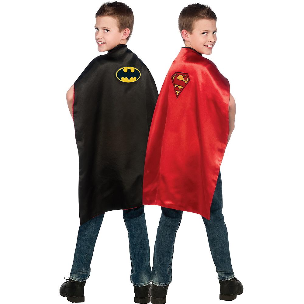 Child Reversible Batman & Superman Cape Image #1