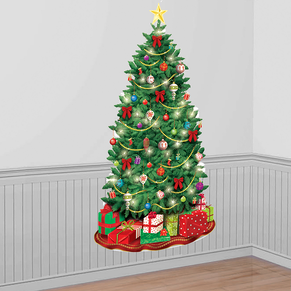 Classic Christmas Tree Scene Setter | Party City