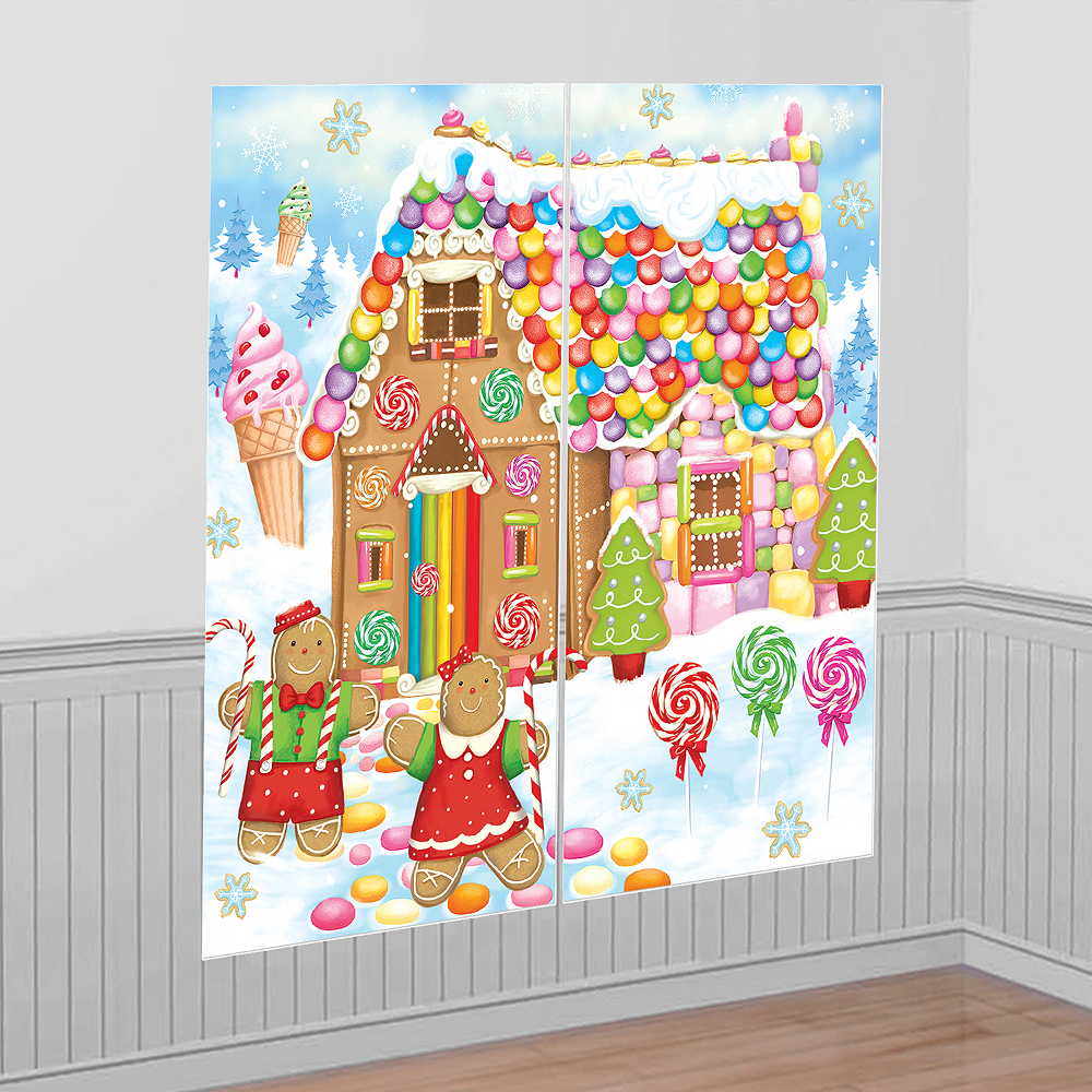Party City Christmas Cebary: Sweet Holiday Scene Setter 65in X 65in