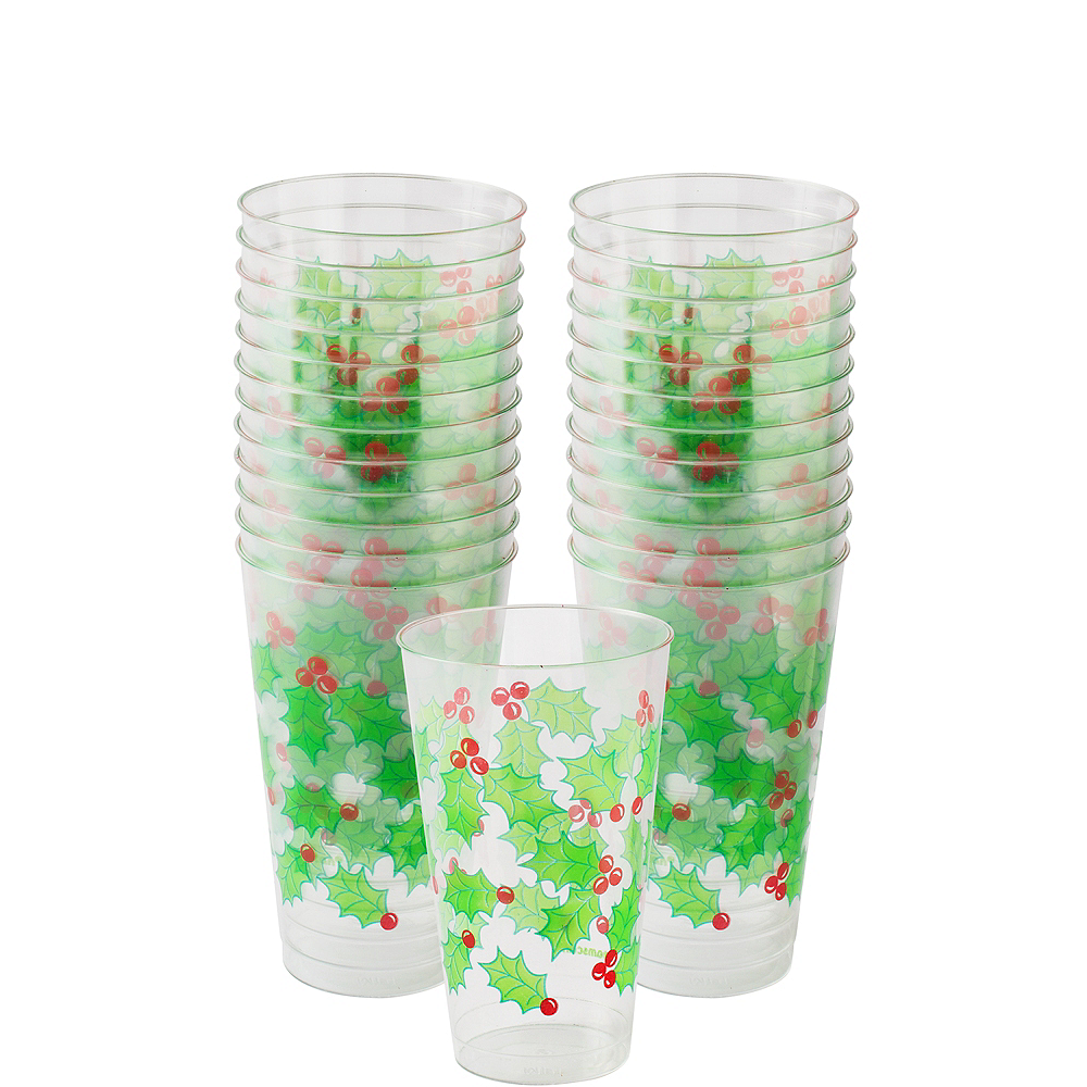 Large Holly Tumblers 25ct Image #1
