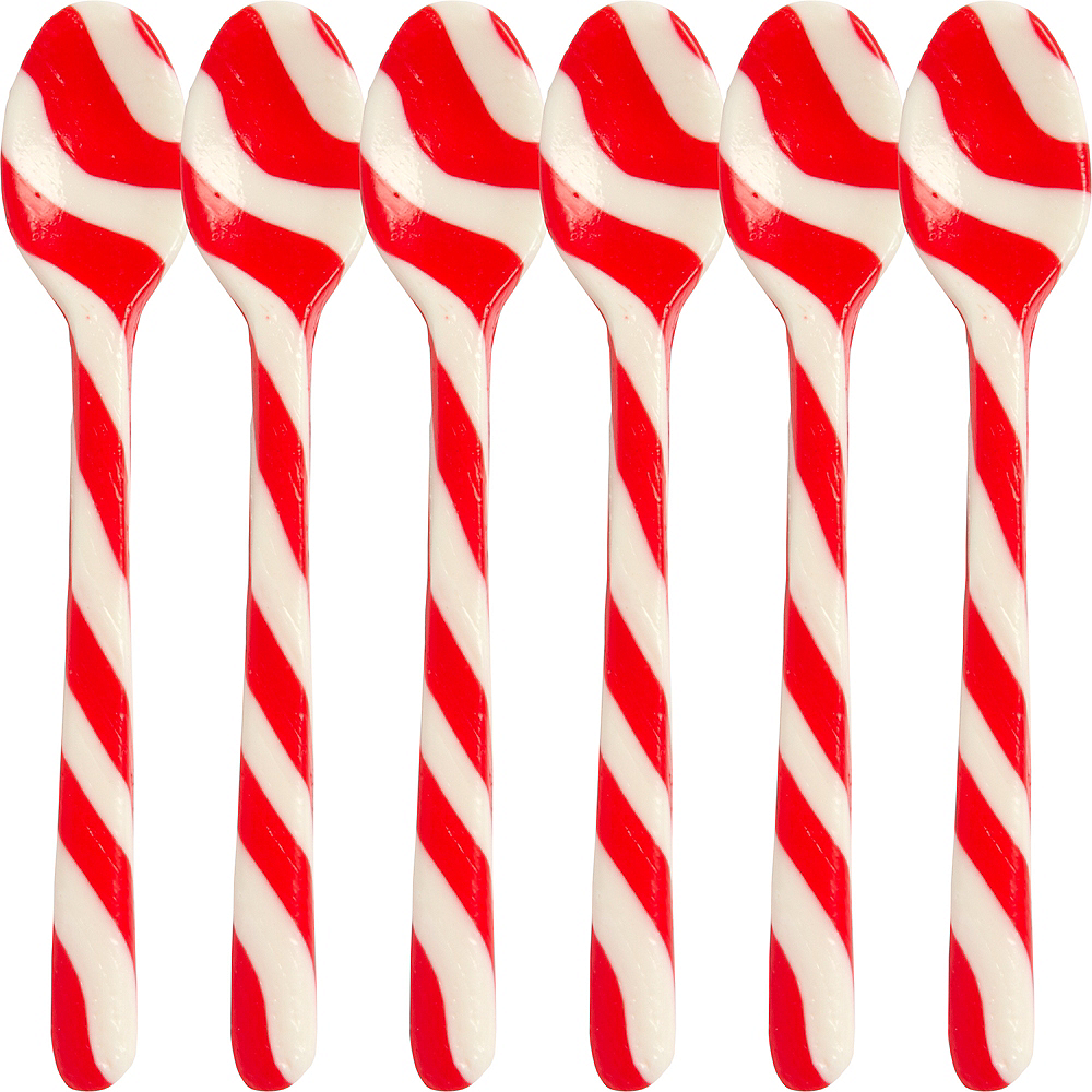 Candy Cane Spoons 6ct Image #1
