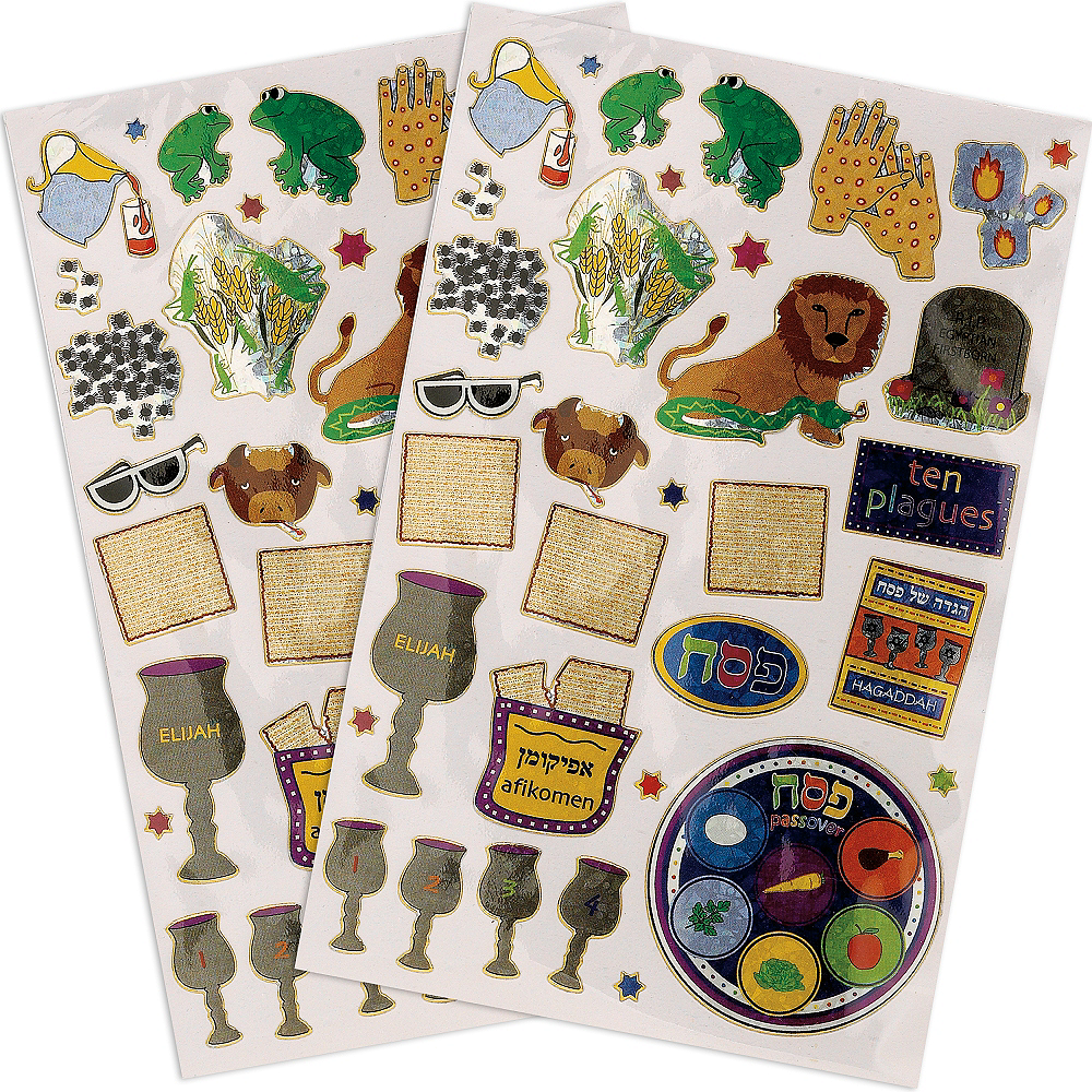 Prismatic Passover Stickers 2 Sheets Image #1