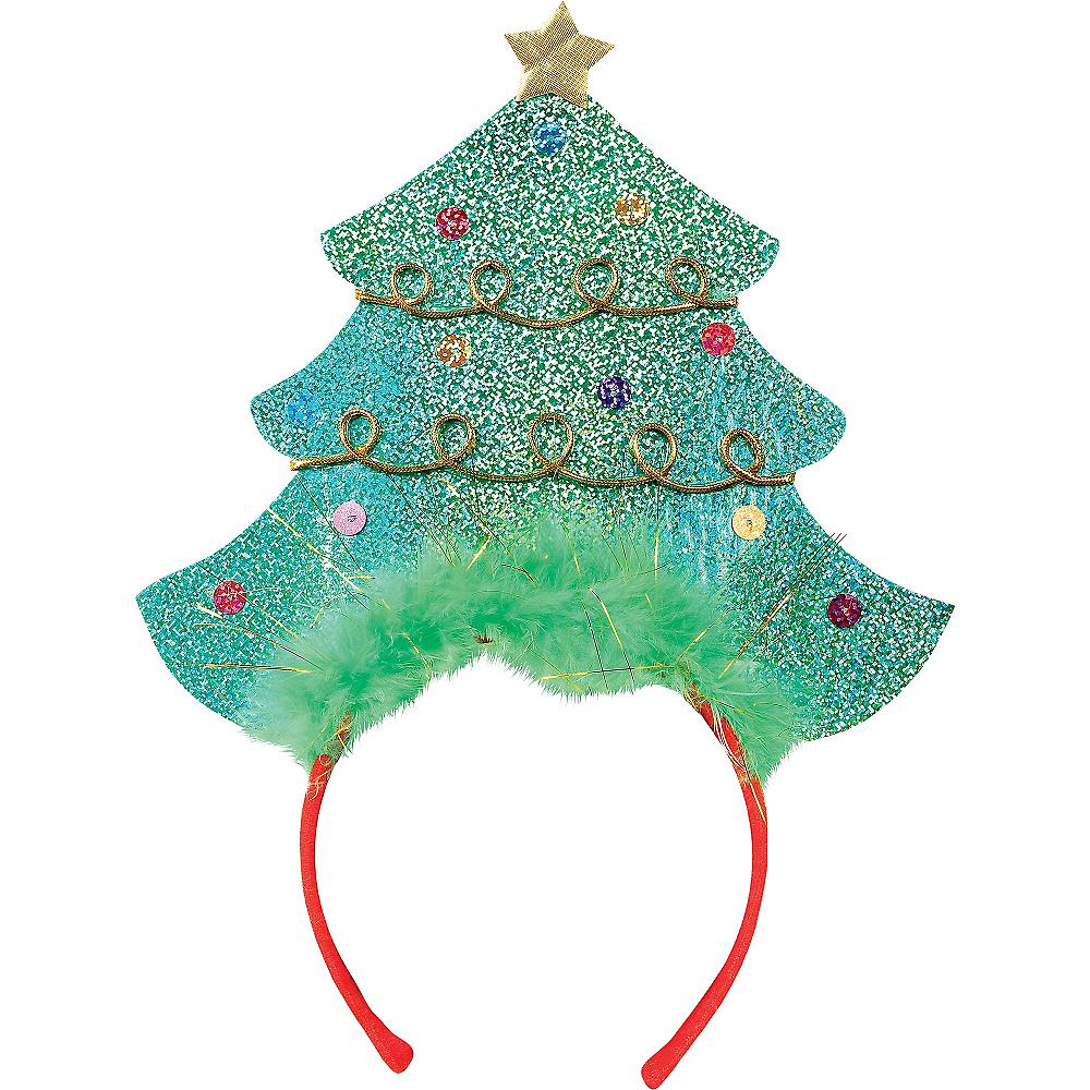 Glitter Christmas Tree Headband | Party City