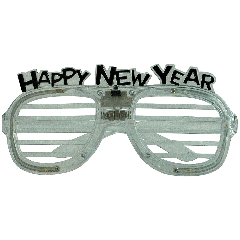 Light-Up New Year's Slotted Glasses Image #1