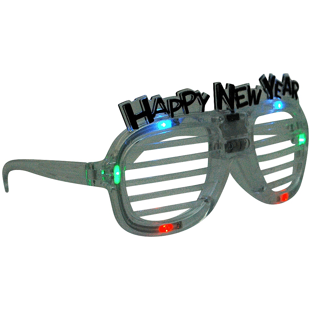 Light-Up New Year's Slotted Glasses Image #2