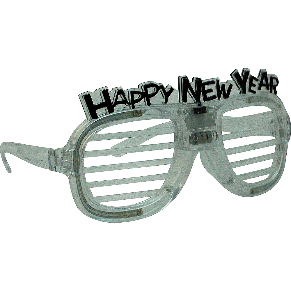 Light-Up New Year's Slotted Glasses Image #3