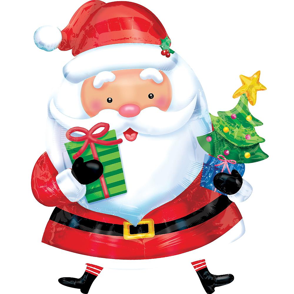 Santa Balloon - Giant Gifting, 37in Image #1