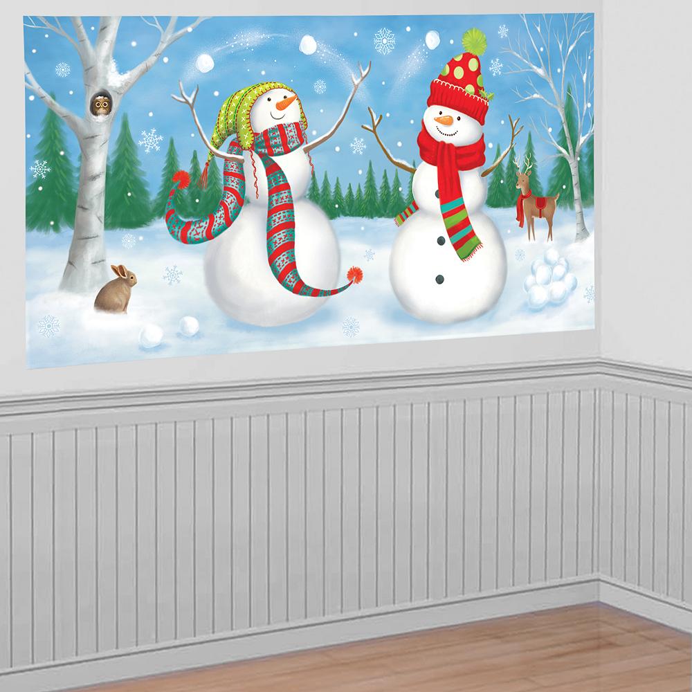 Whimsical Snowmen Scene Setter Image #1