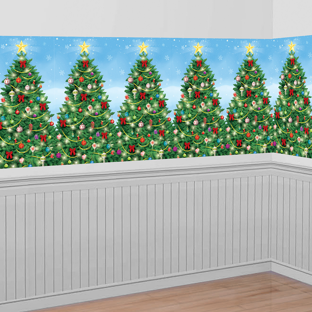 evergreen christmas room roll image 1