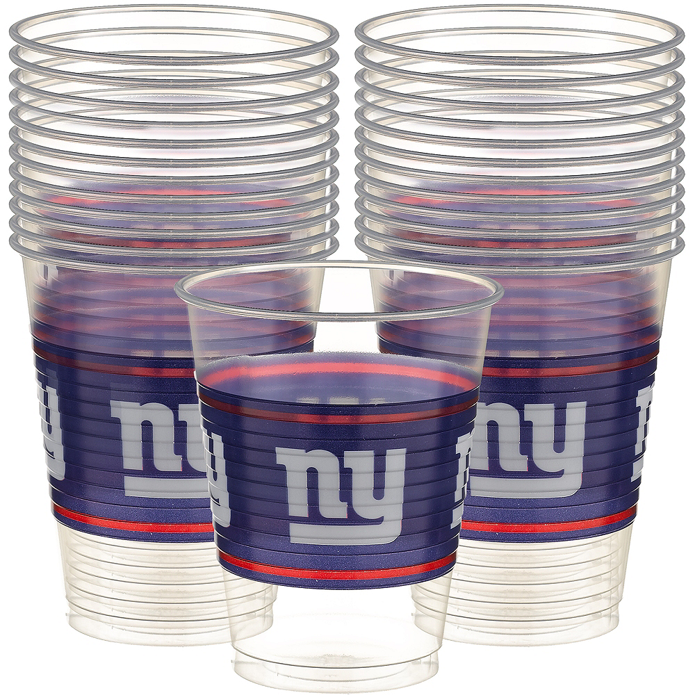 Nav Item for New York Giants Plastic Cups 25ct Image #1