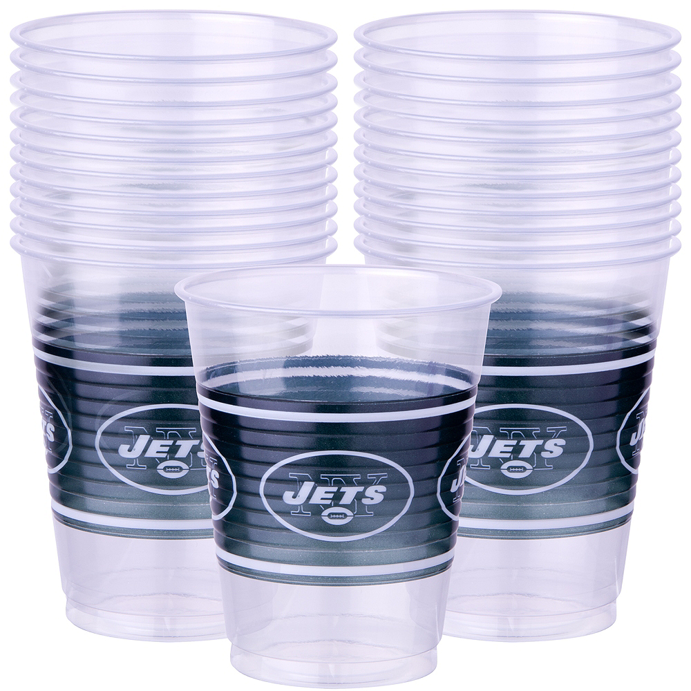 New York Jets Plastic Cups 25ct Image #1