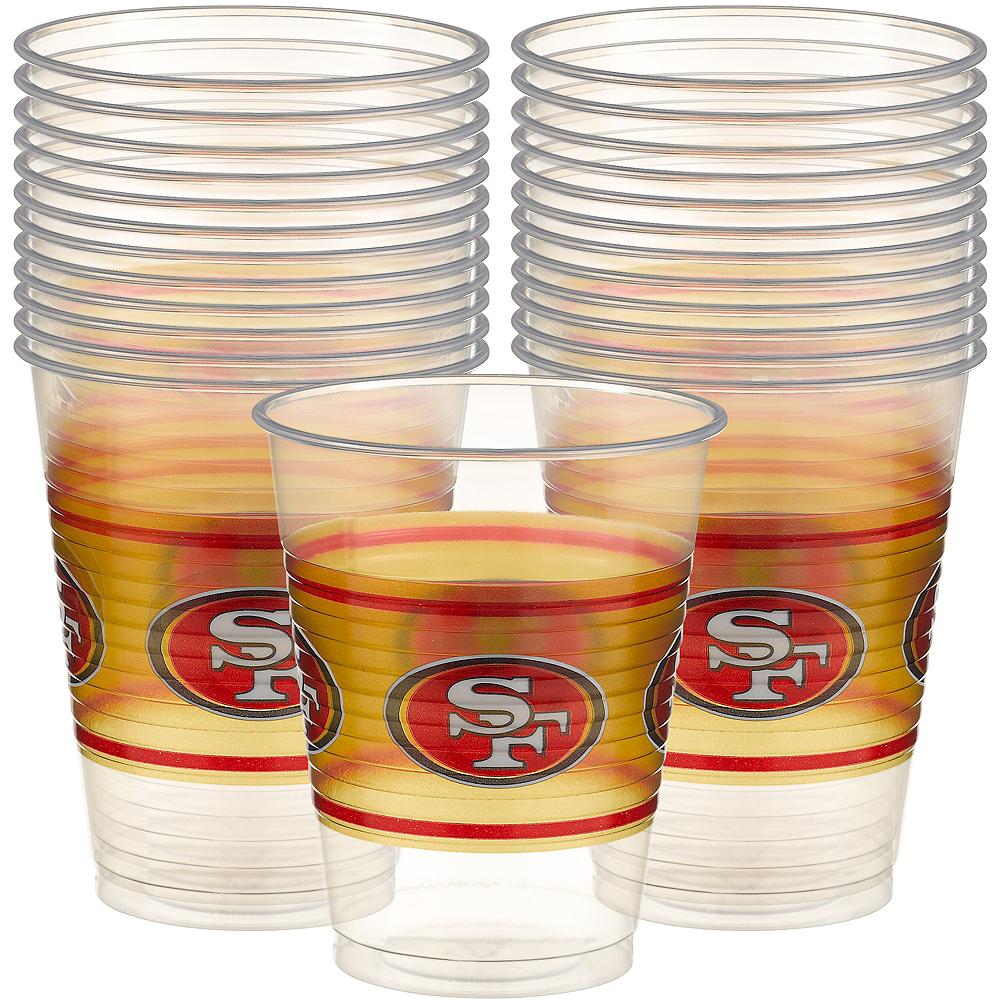 San Francisco 49ers Plastic Cups 25ct Image #1
