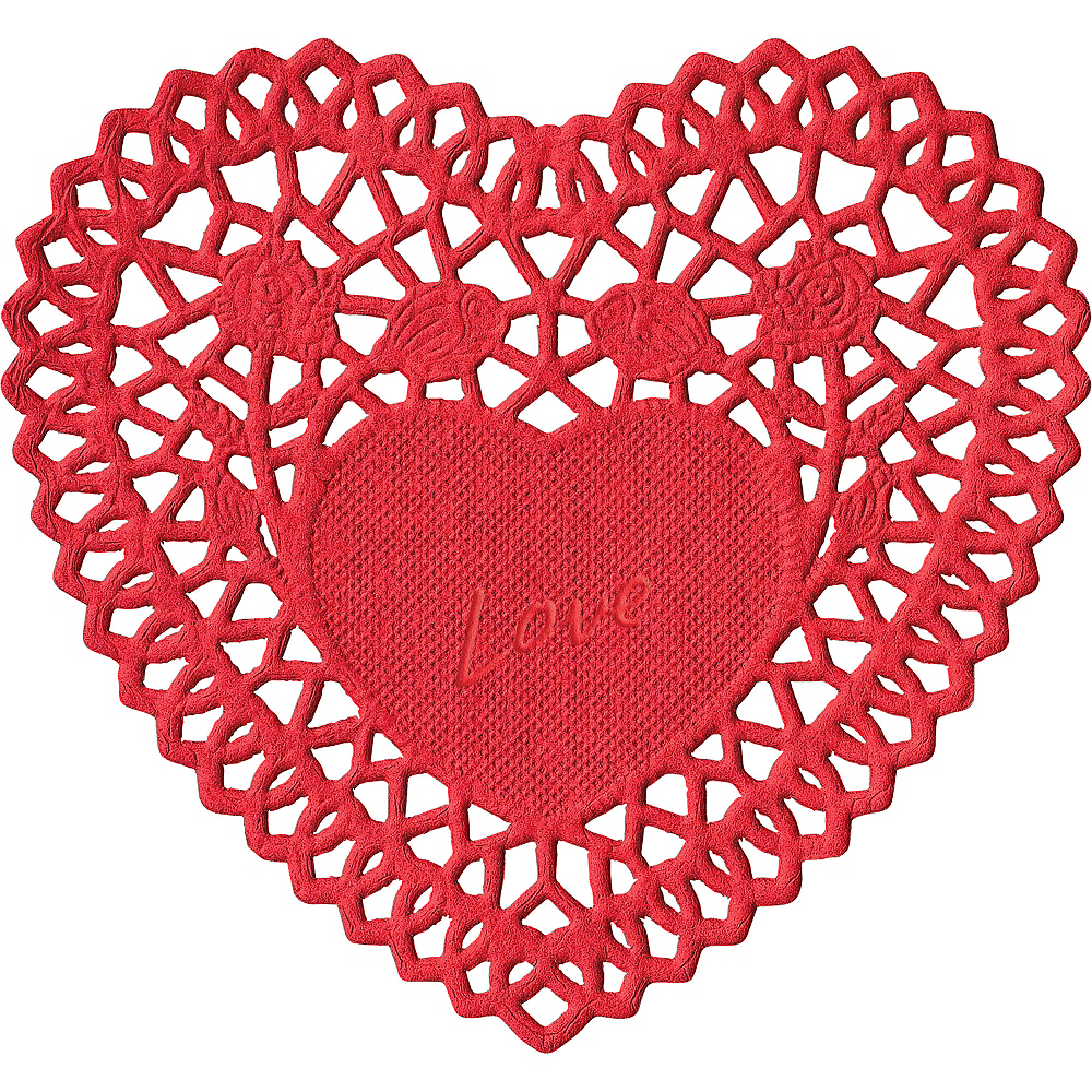 Valentine's Day Heart Doilies 40ct Image #2