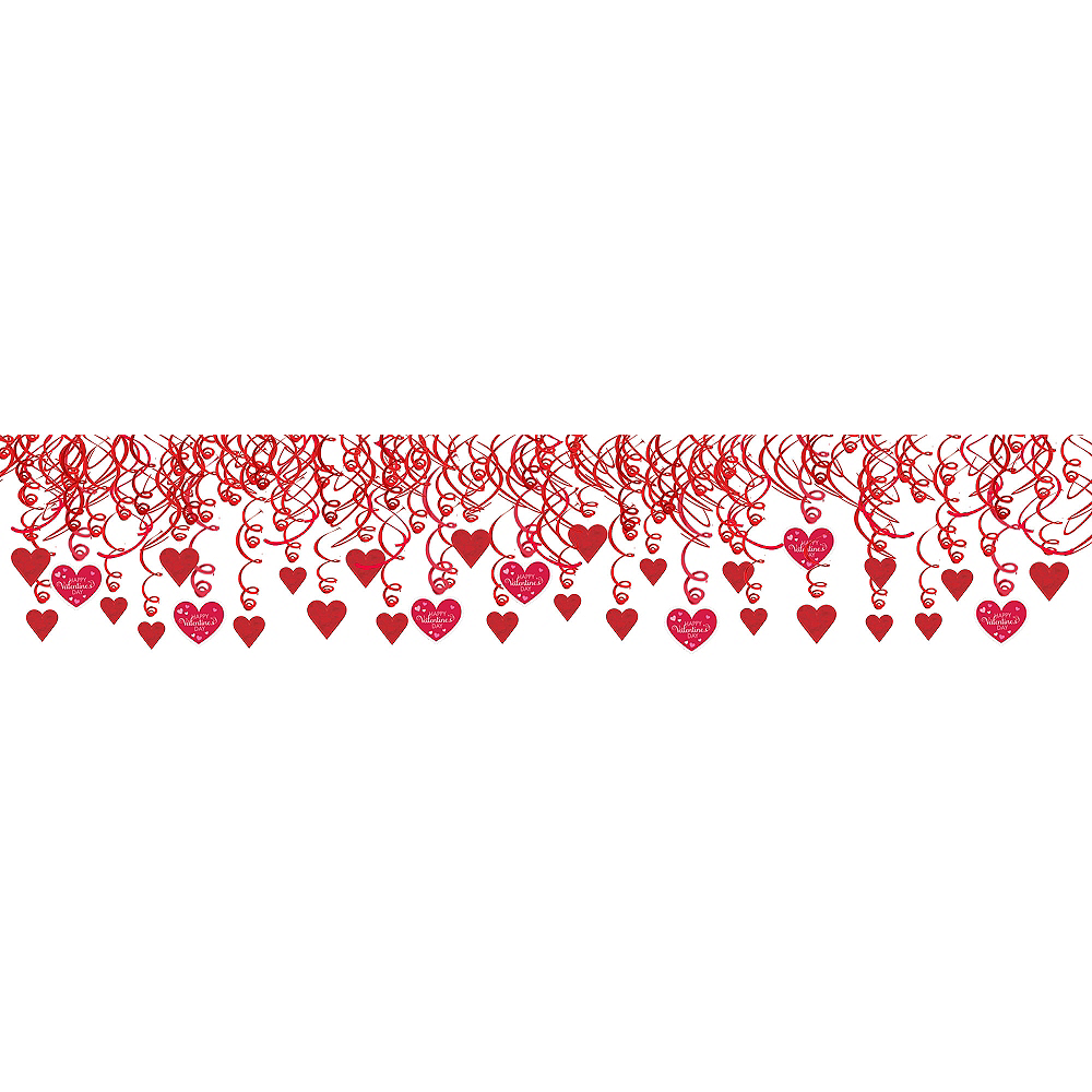 Valentine's Day Swirl Decorations 30ct Image #1