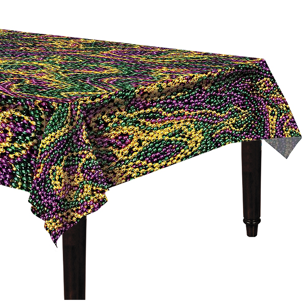 Mardi Gras Beads Table Cover Image #1