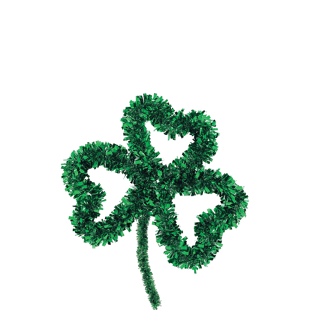 Tinsel Shamrock Wreath Image #1