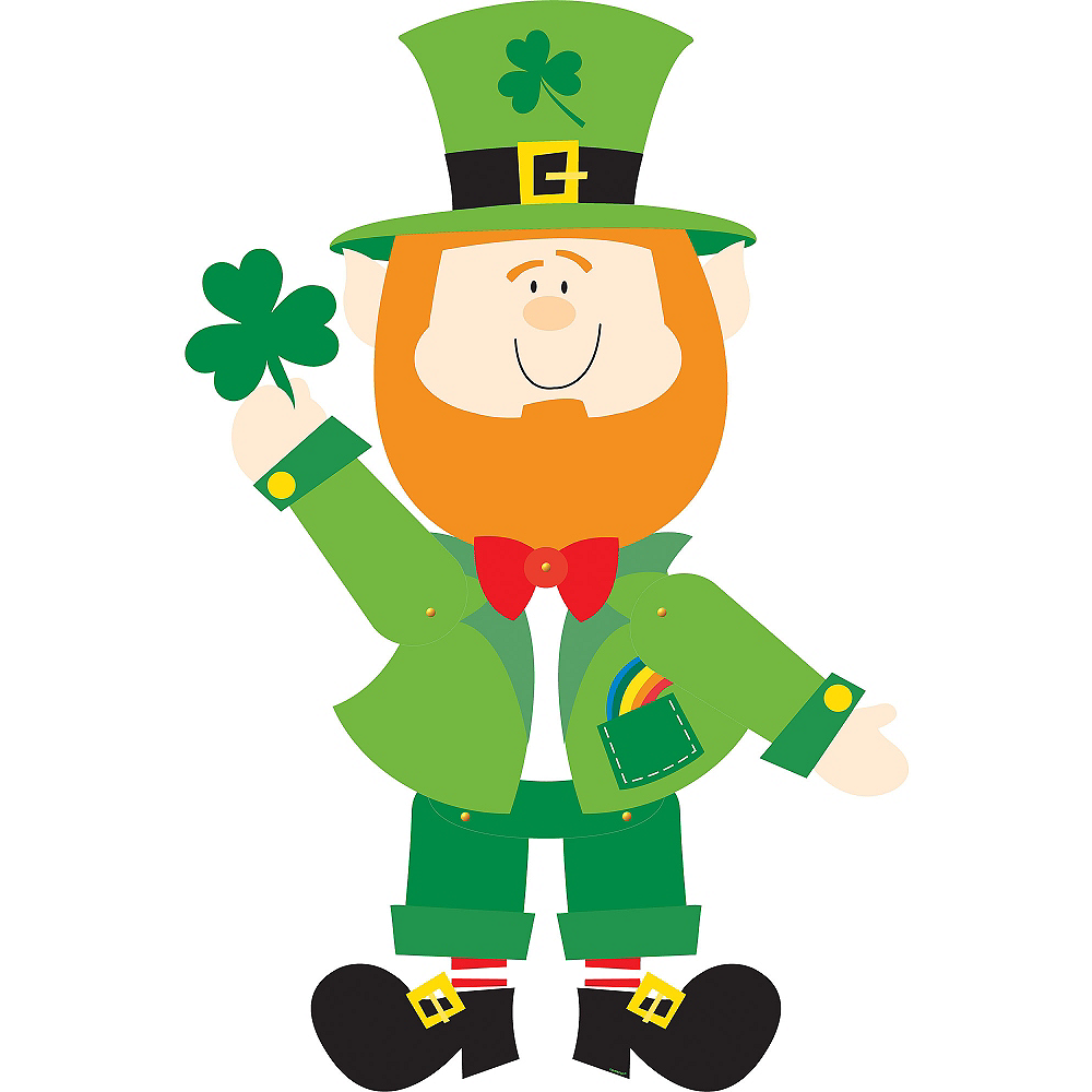 Jointed Leprechaun Cutout Image #1