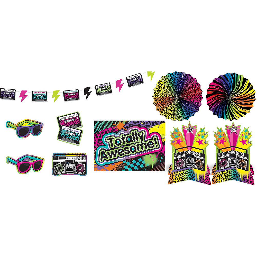 Totally 80s Room Decorating Kit 10pc | Party City