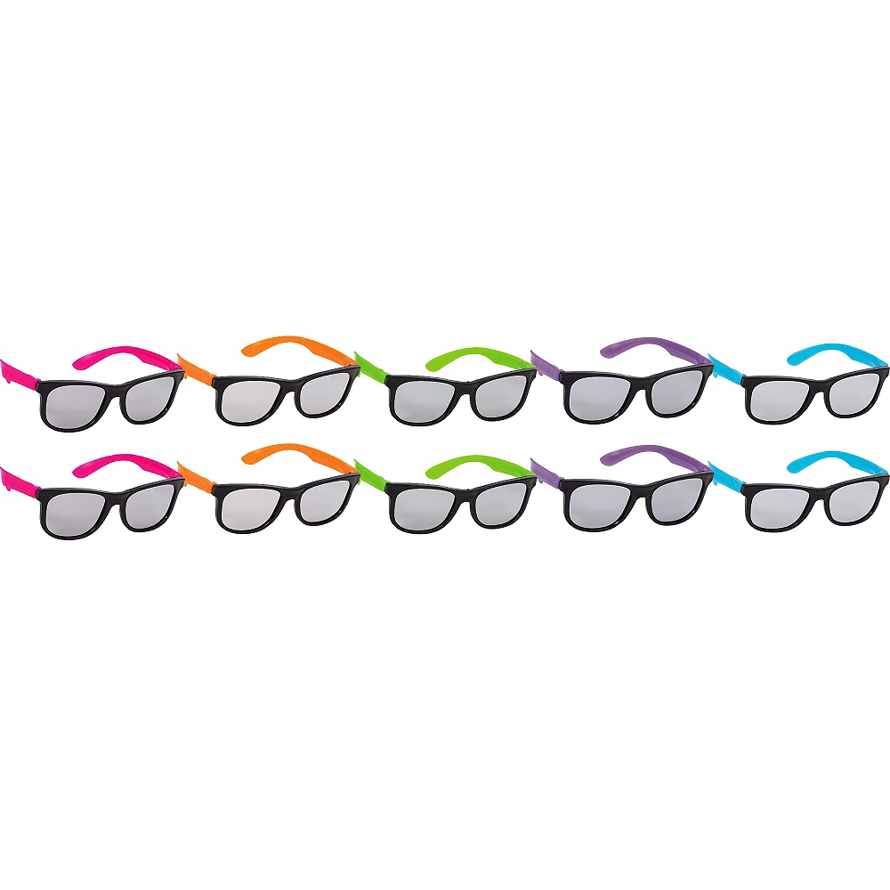 Neon Totally 80s Sunglasses 10ct | Party City