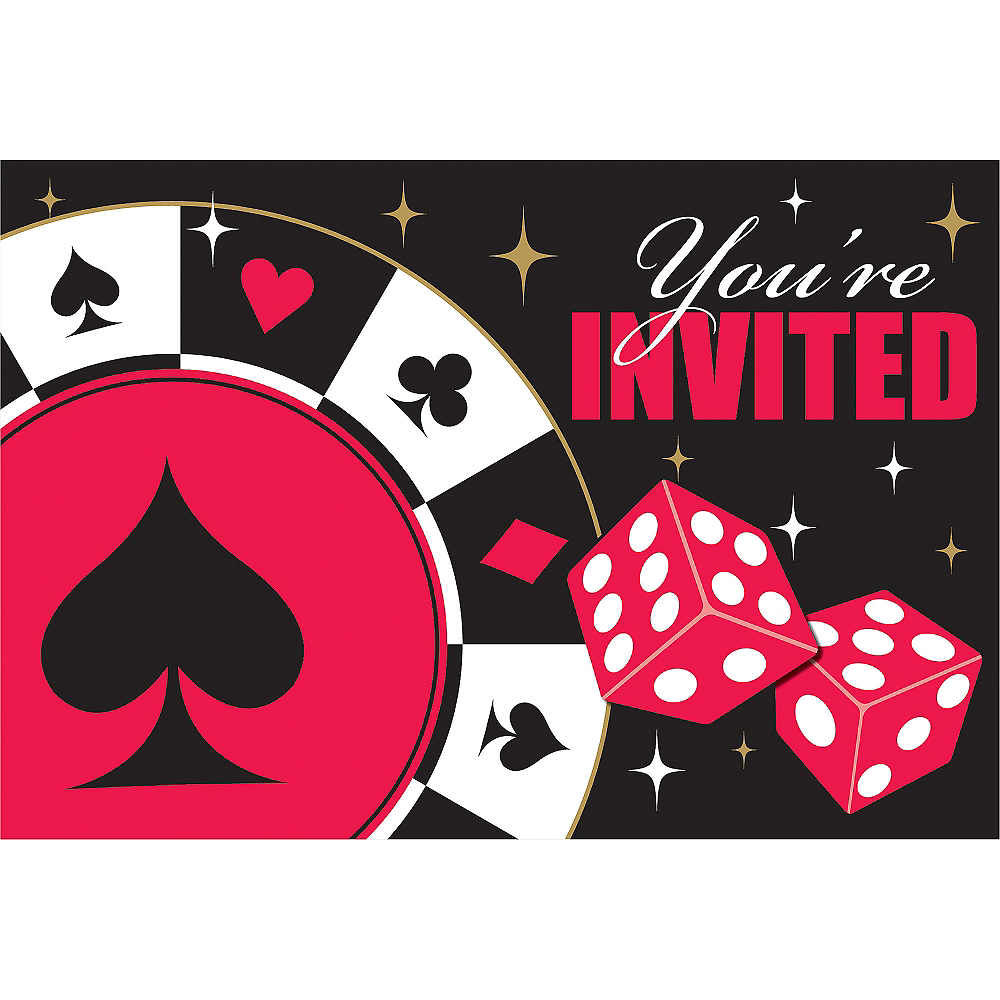 Place Your Bets Casino Invitations 8ct | Party City Canada