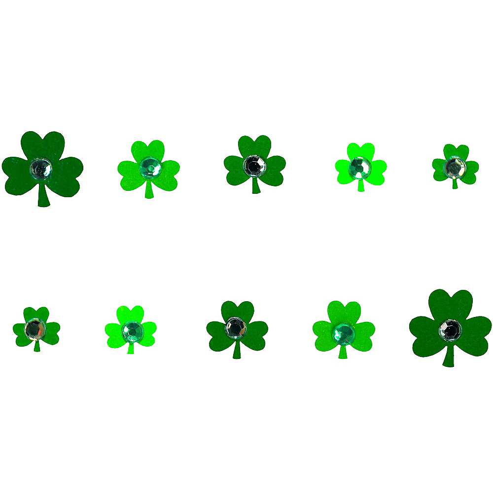 Jewel Shamrock Nail Stickers Image #1