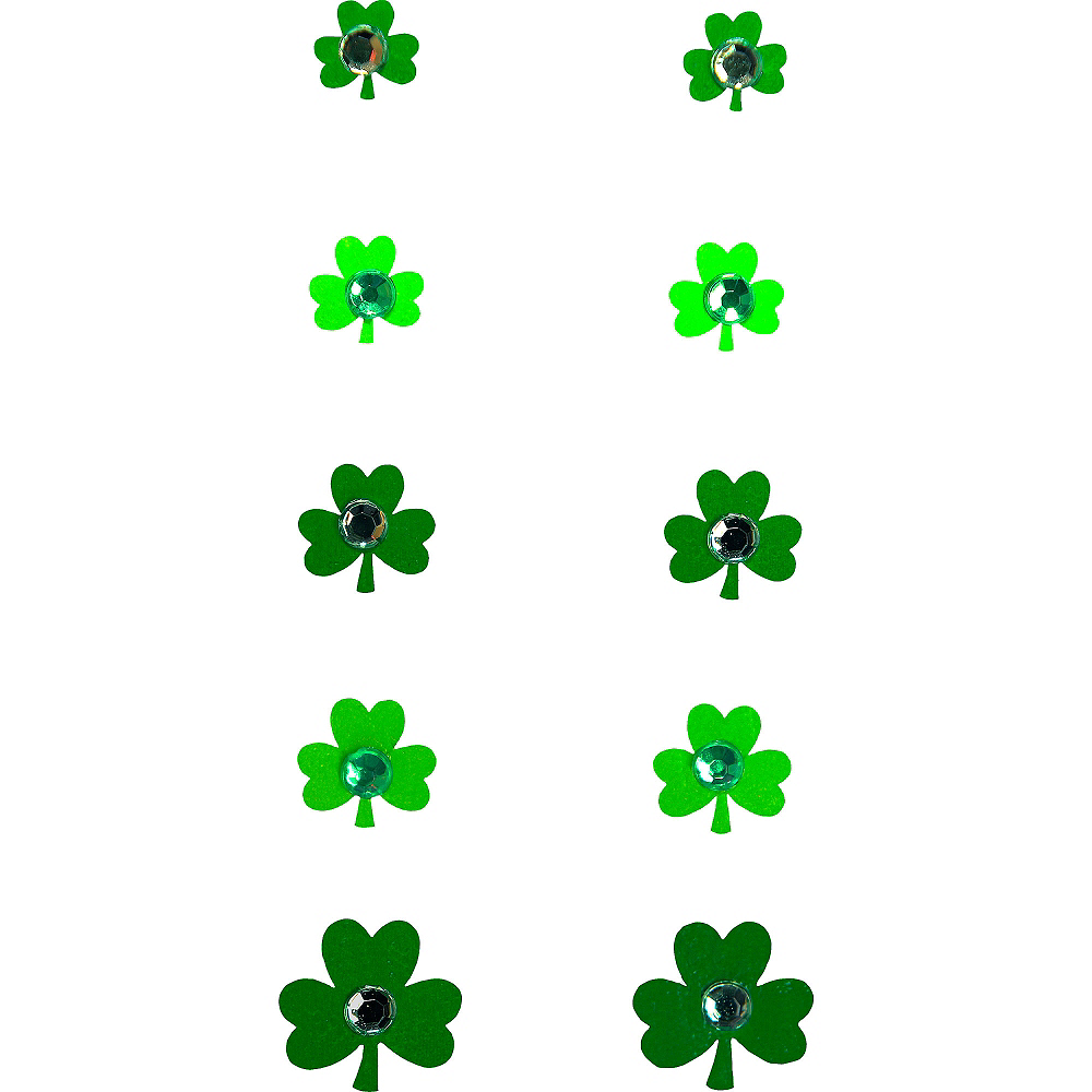 Jewel Shamrock Nail Stickers Image #2