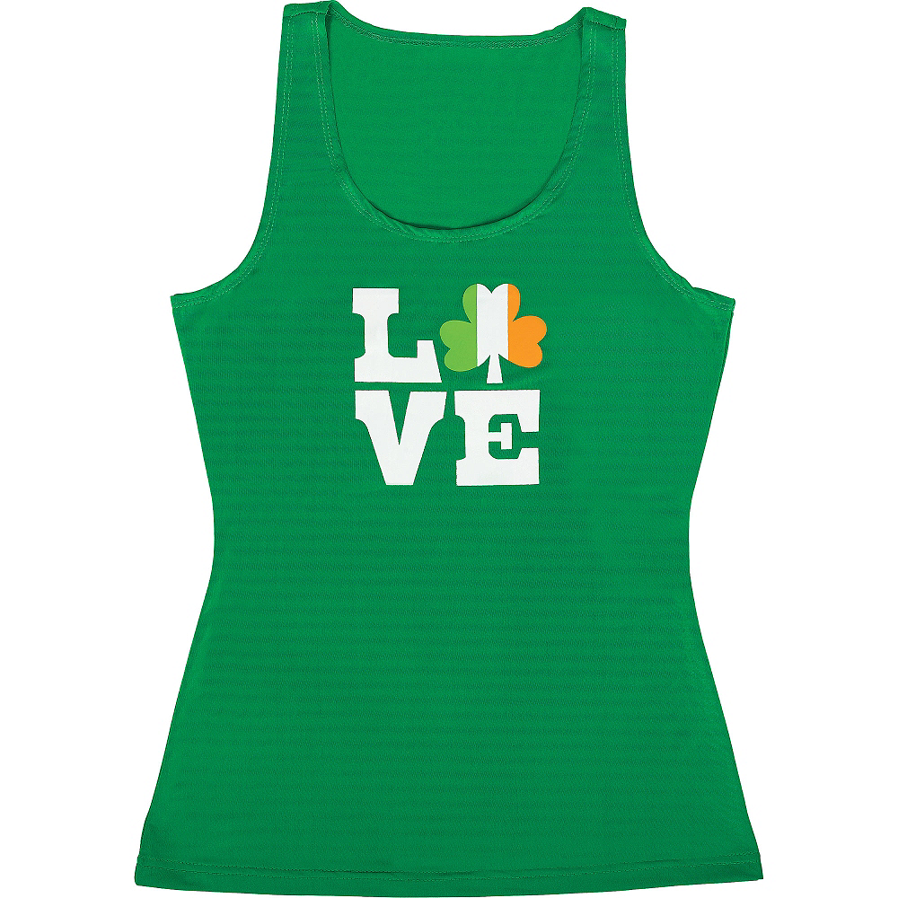 Adult Love Shamrock Tank Top Image #1