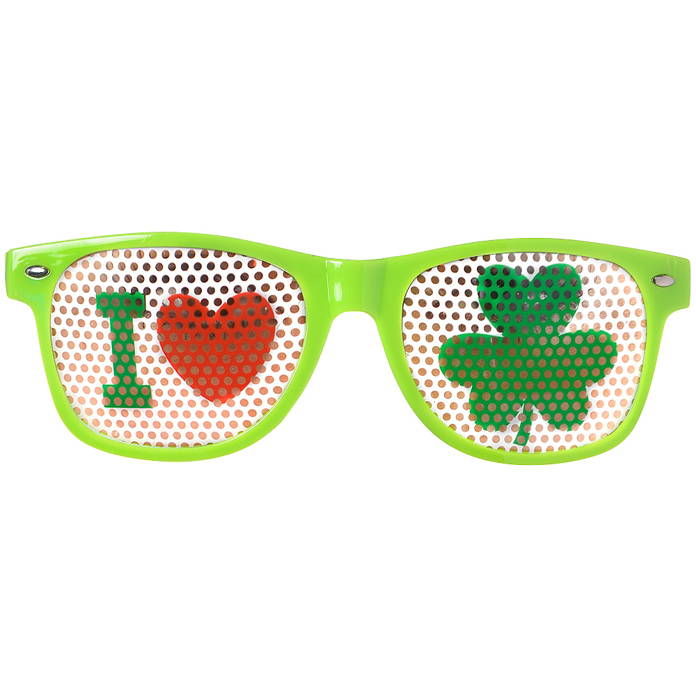 Shamrock Printed Glasses Image #1