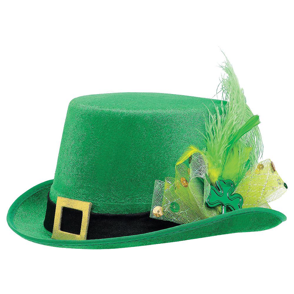 Fancy Leprechaun Top Hat Image #1