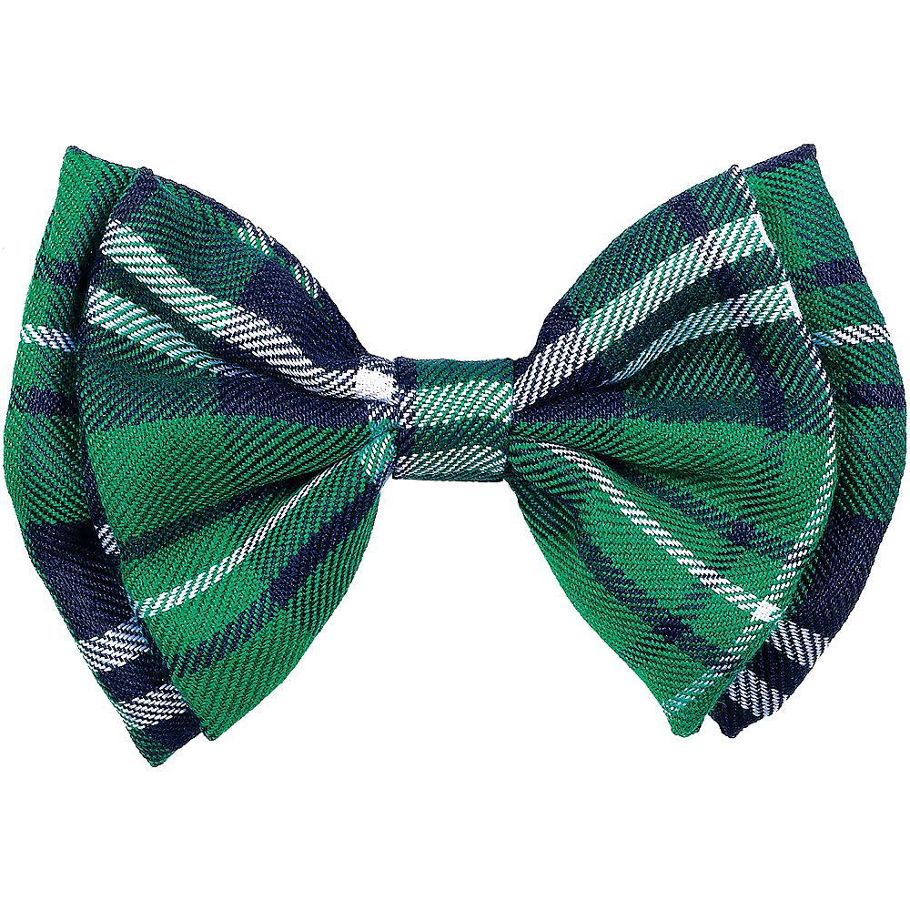 Green Plaid Bow Tie Image #1