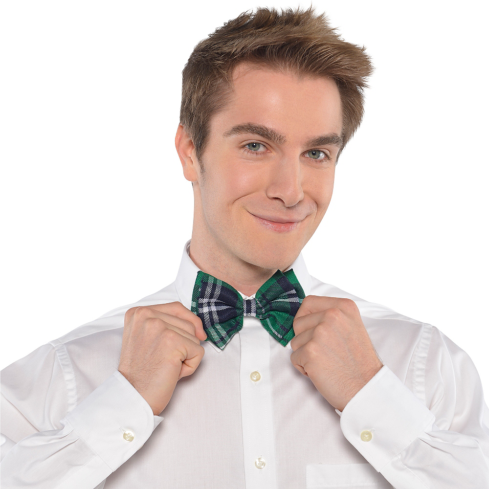Green Plaid Bow Tie Image #2