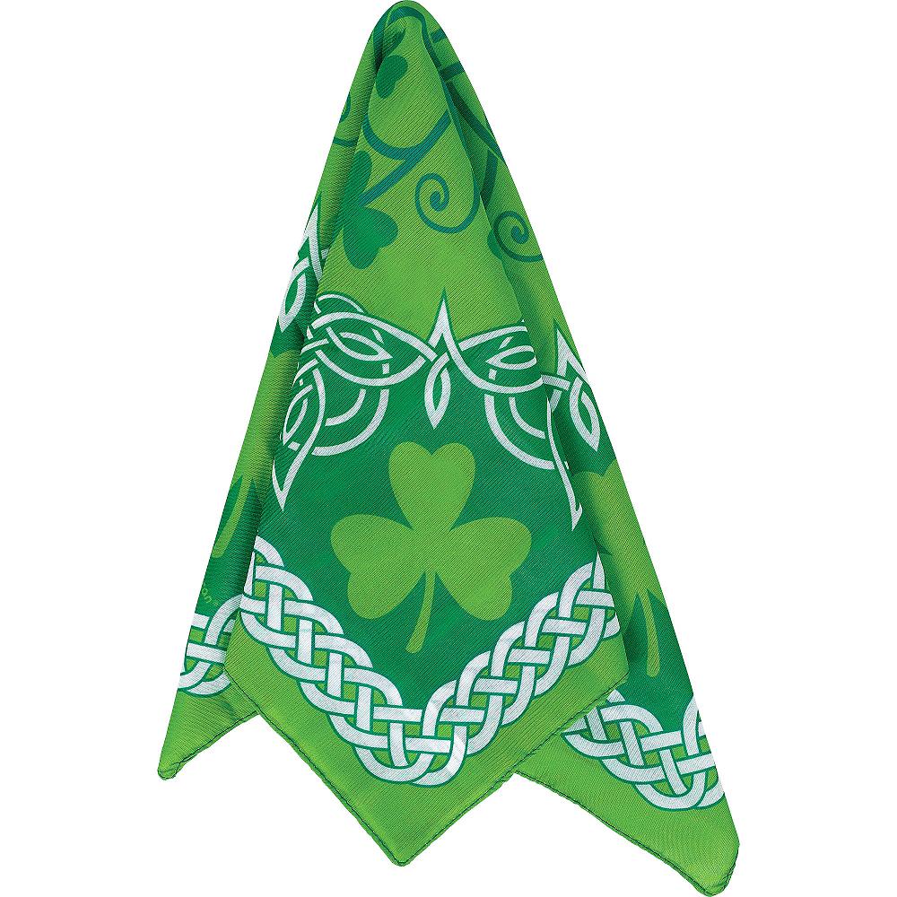 St. Patrick's Day Celtic-Print & Shamrock Bandana Image #1