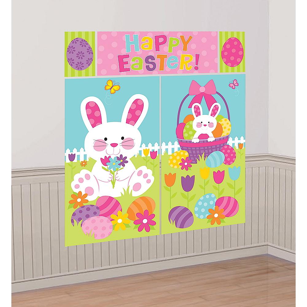Happy Easter Scene Setter 5pc Image #1