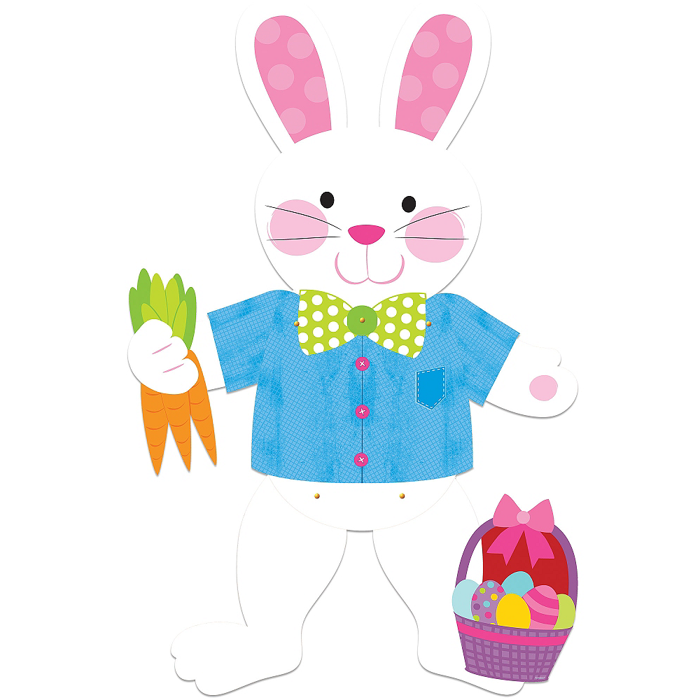 Jointed Easter Bunny Cutout Image #1
