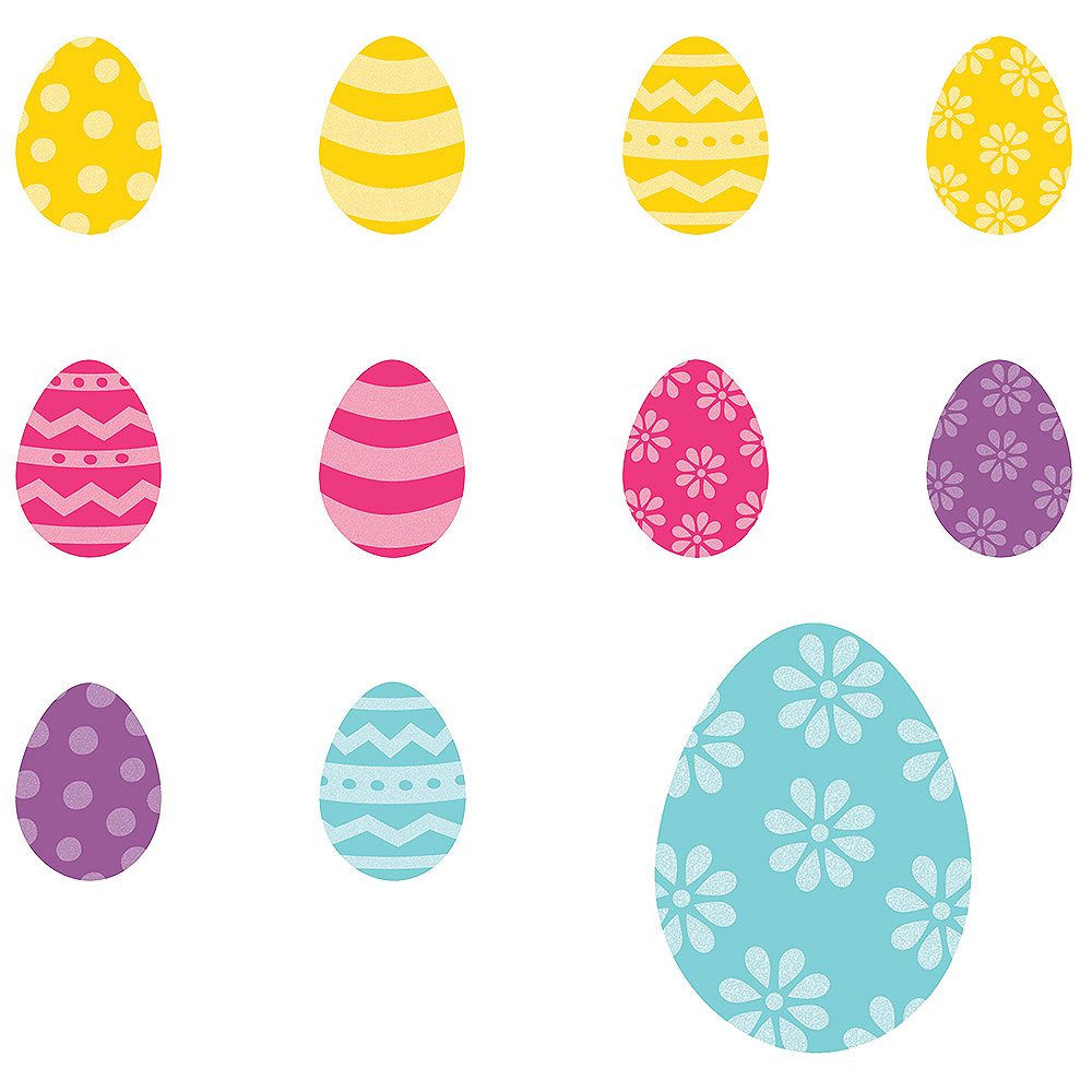 Glitter Easter Egg Cutouts 50ct Image #1