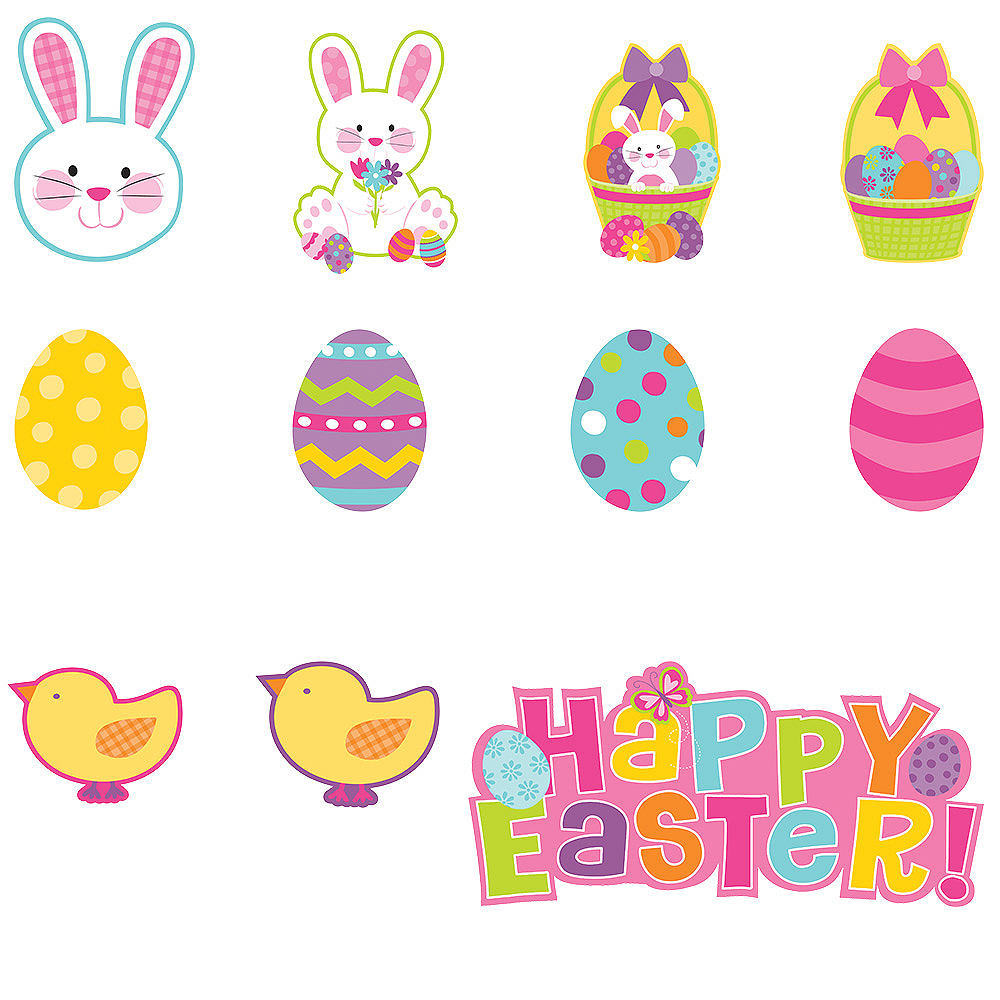 Happy Easter Cutouts 30ct Image #1