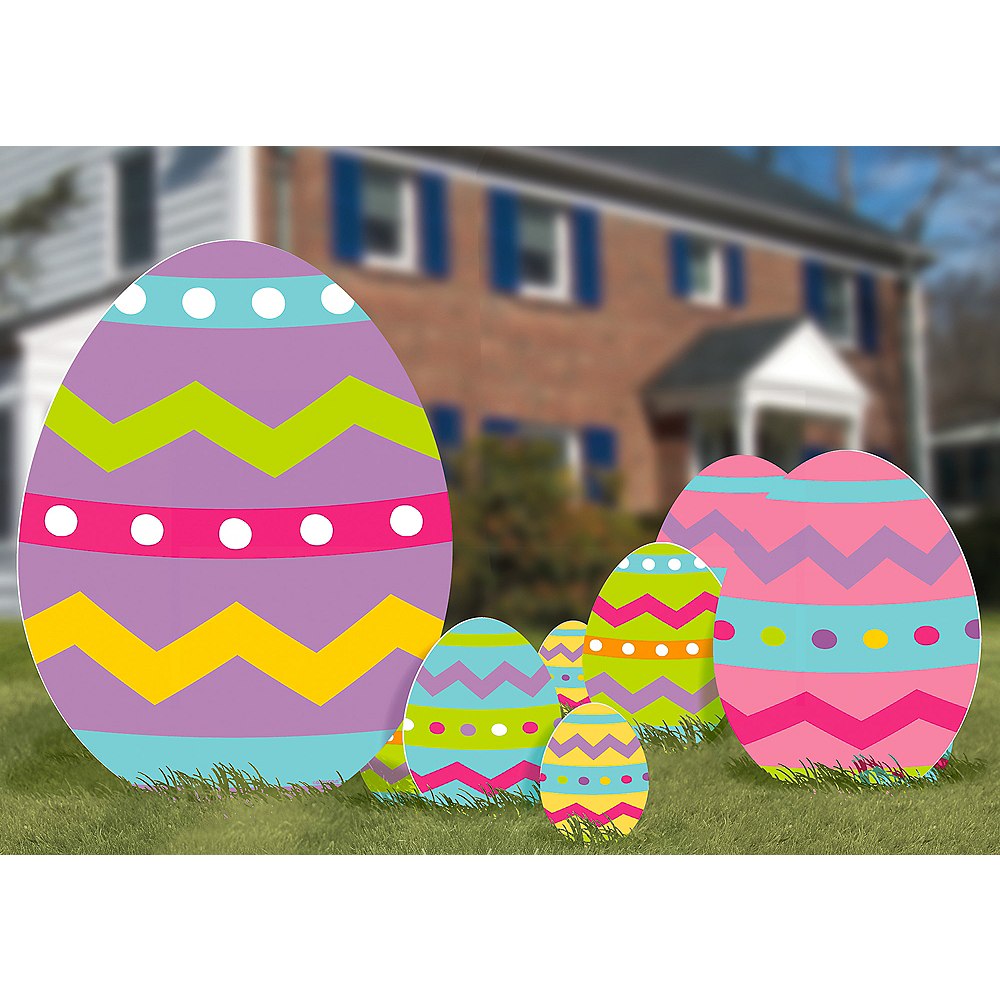 Easter Egg Yard Signs 5ct Image #2