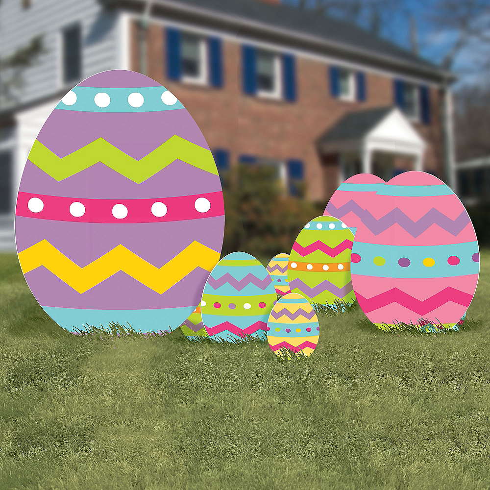 Easter Egg Yard Signs 5ct Image #1