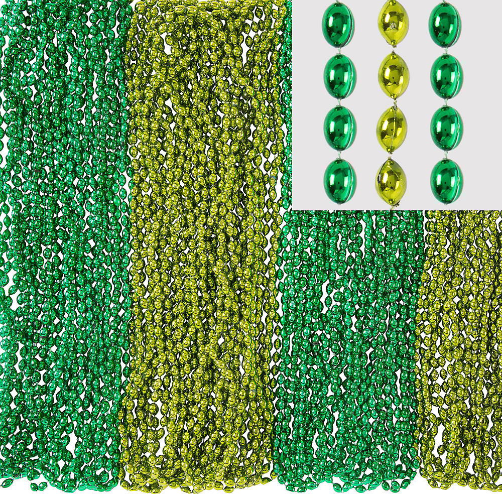 Green Bead Necklaces 100ct Image #1