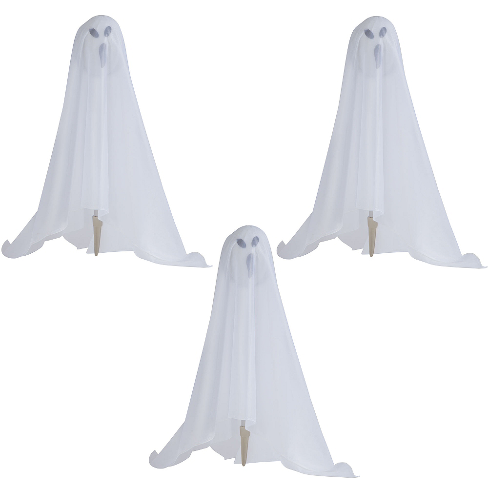 Color-Changing Light-Up Ghost Stakes 3pc Image #1
