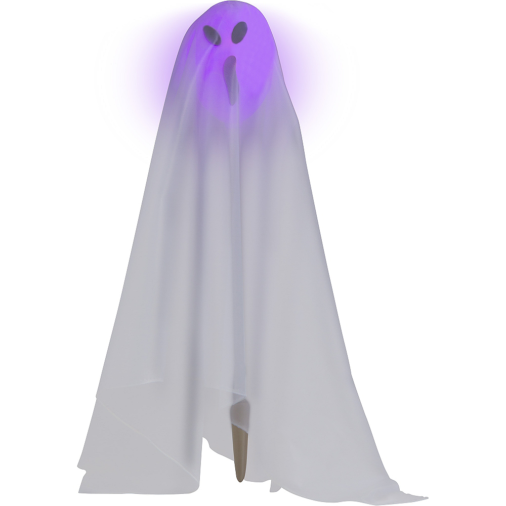 Color-Changing Light-Up Ghost Stakes 3pc Image #3