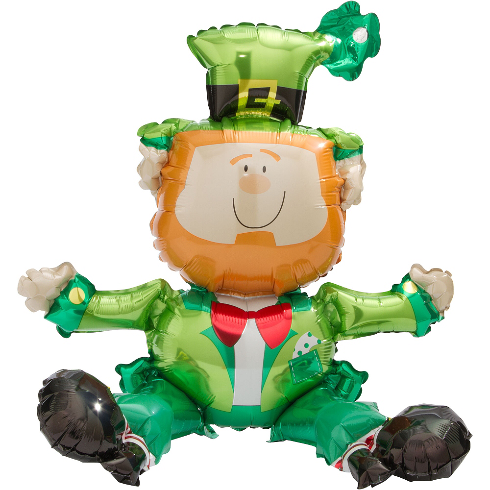 Nav Item for Air-Filled Sitting Leprechaun Balloon, 18in Image #1