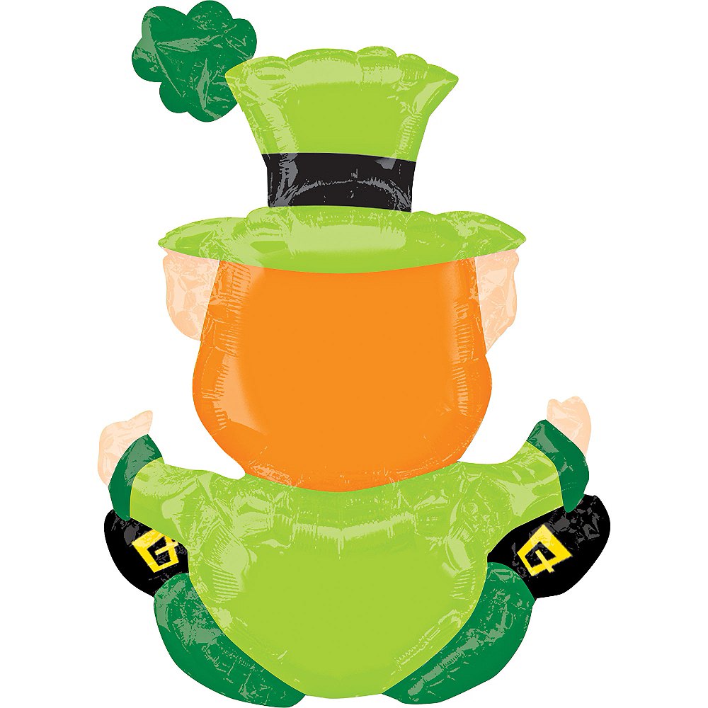 Air-Filled Sitting Leprechaun Balloon, 18in Image #2