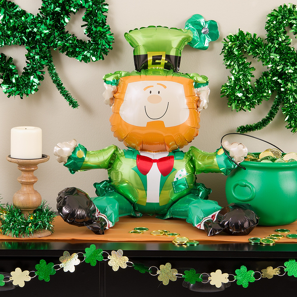 Nav Item for Air-Filled Sitting Leprechaun Balloon, 18in Image #3