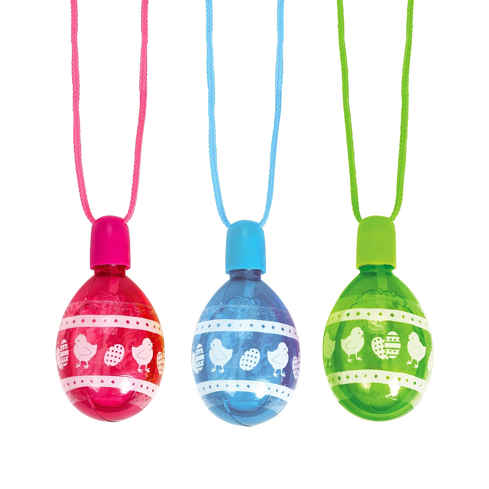 Easter Egg Bubble Necklaces 3ct Image #1