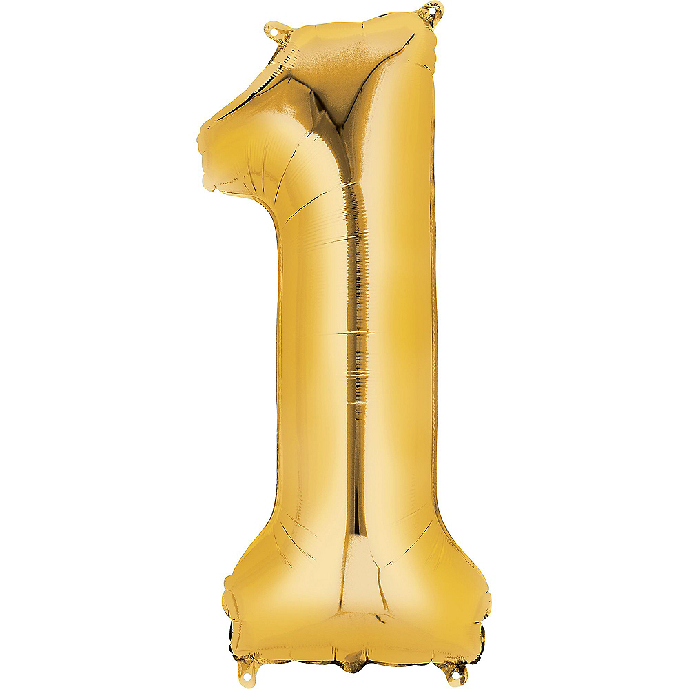 34in Gold Number Balloon (1) Image #1
