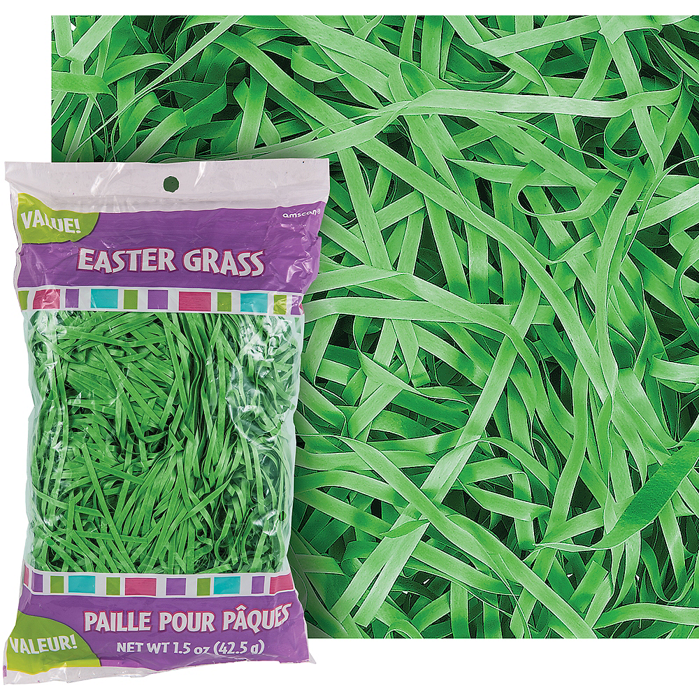 Forest Green Plastic Easter Grass Image #1