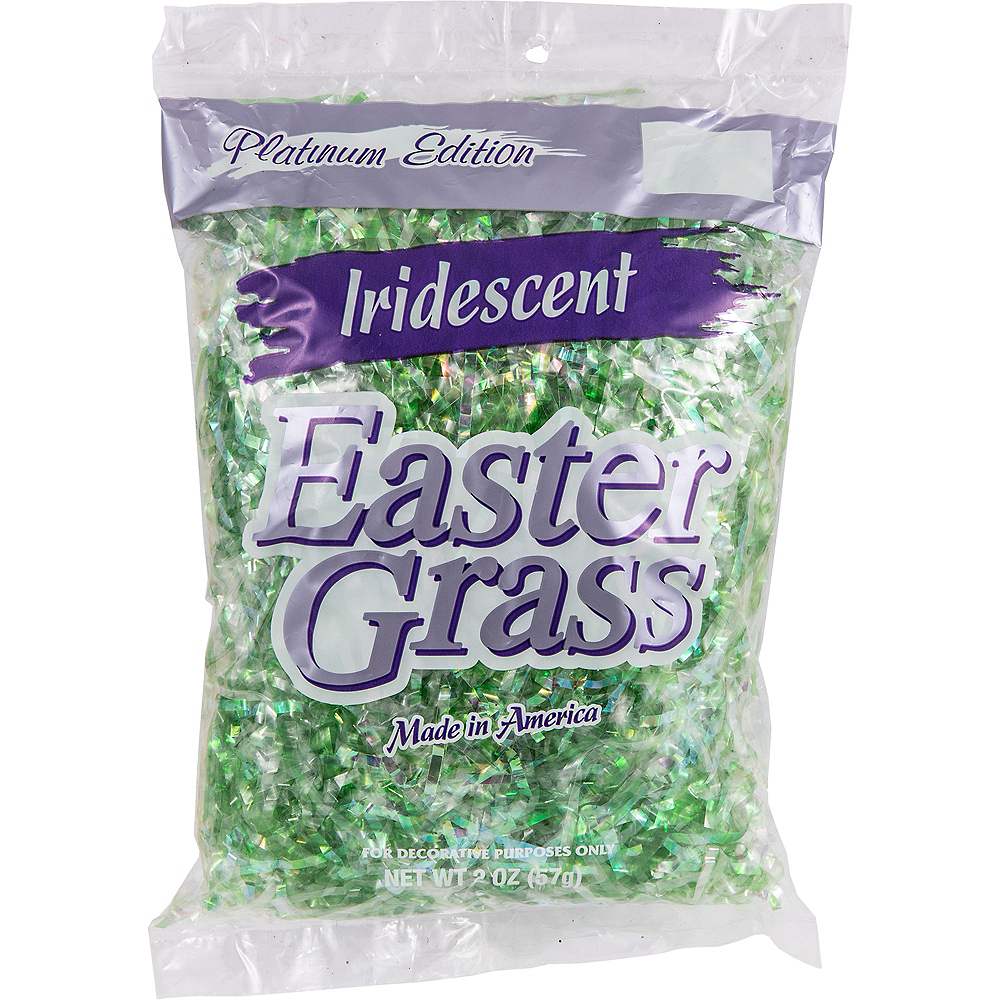 Iridescent Green Plastic Easter Grass Image #2